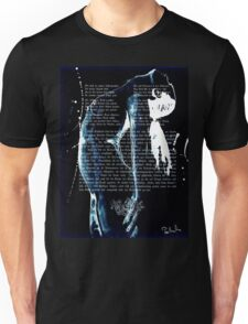 ink on very old paper negativ scan Unisex T-Shirt