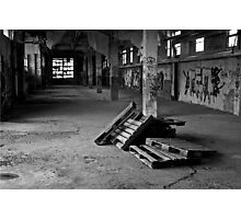 Old factory pallets Photographic Print