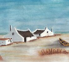 "My Pastel ""Cape Cottages""... South Africa by Qnita"