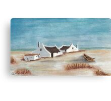 "My Pastel ""Cape Cottages""... South Africa Canvas Print"