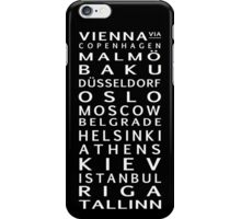 Road to the Song Contest iPhone Case/Skin