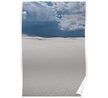 Rain clouds over White Sands National Monument, New Mexico Poster