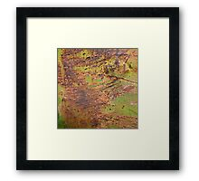 Fire in the Valley Abstract Be Square Framed Print