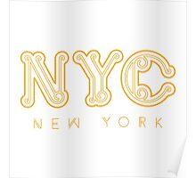 NYC New York City Design Poster