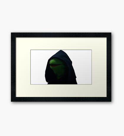Dark Kermit Framed Print