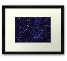 Night Sky Chart Framed Print