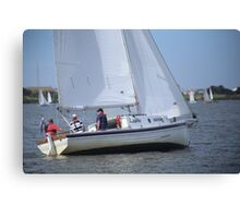 More Terrible Sailing at Goolwa Canvas Print