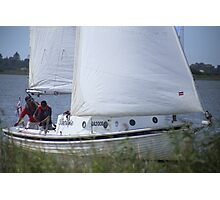 Terrible Sailing at Goolwa Photographic Print