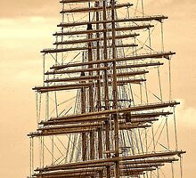 """5 masts of SY """"Royal Clipper"""" by globeboater"""