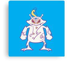 Electabuzz Popmuerto | Pokemon & Day of The Dead Mashup Canvas Print