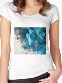Abstract Colourful Paint in Water Women's Fitted Scoop T-Shirt