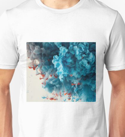 Abstract Colourful Paint in Water Unisex T-Shirt