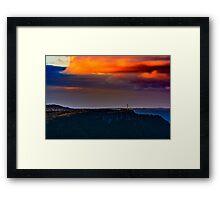 Dusk in the hills Framed Print