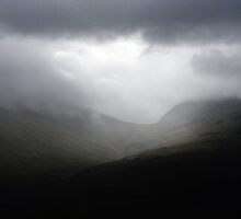 Rain across the Highland Mountain by Richard Flint