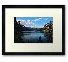 Late Evening at Lake Minnewanka Framed Print