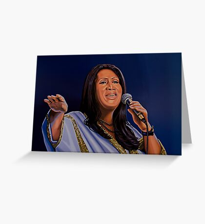 Aretha Franklin, The Queen of Soul Painting Greeting Card