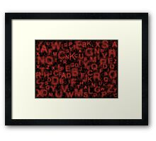 Alphabet Red Framed Print