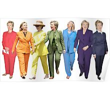Hillary Clinton Gay Pride Pantsuit Poster