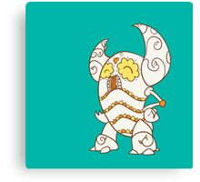 Pinsir Popmuerto | Pokemon & Day of The Dead Mashup Canvas Print