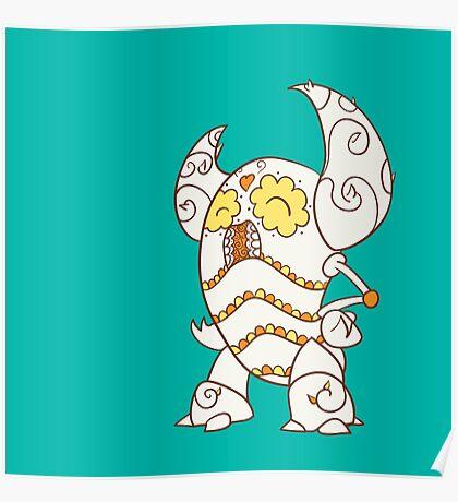 Pinsir Popmuerto | Pokemon & Day of The Dead Mashup Poster