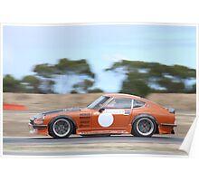 2014 Oz Gymkhana Round 1 - #09 Datsun 240Z (2) Poster