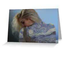 van gogh + Samantha  Greeting Card