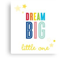 DREAM BIG QUOTE modern typography bright colors Canvas Print