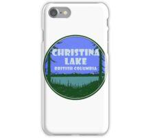 Christina Lake British Columbia Vintage Travel Decal iPhone Case/Skin