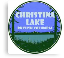 Christina Lake British Columbia Vintage Travel Decal Canvas Print