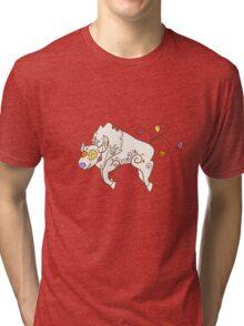 Tauros Popmuerto   Pokemon & Day of The Dead Mashup Tri-blend T-Shirt