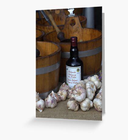 Garlic and Select Vinegar Greeting Card