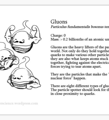 Gluons: Particle Critters Sticker