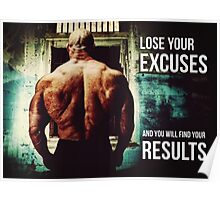 Lose Excuses, Find Results Poster