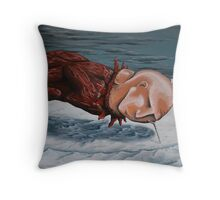 the rut Throw Pillow