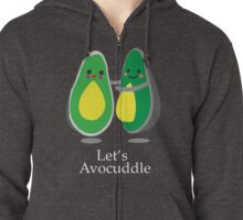 Funny Avocado Cuddle Couple Design Zipped Hoodie