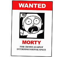 Morty Wanted Poster - Rick and Morty Photographic Print