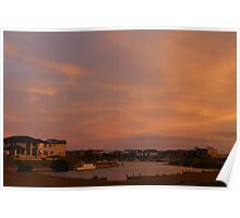 The Marina Hindmarsh Island at Dusk Poster