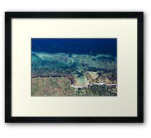 SOUTH COAST AERIAL II Framed Print