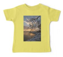 Beautiful Aftermath of an Ice Storm - Sunrise Through Frozen Branches Baby Tee