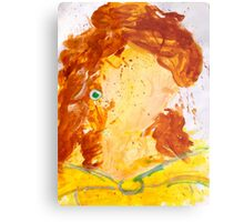 Abstract Disney Princess Painting - Belle Metal Print