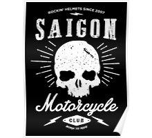Saigon Motorcycle Club | White Poster