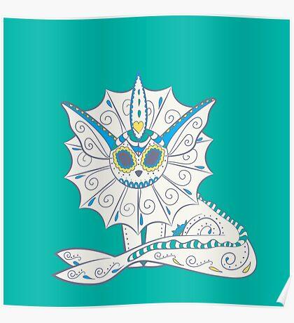 Spiky Blue Muerto Poster