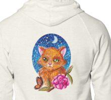 Kitten In Bloom Zipped Hoodie