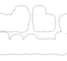 C'est la vie (whatever) - white type Sticker