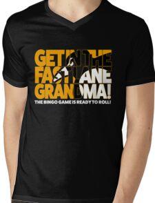 Get In the Fast Lane Mens V-Neck T-Shirt