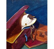 Helm in suitcase painting octobre 2013 Photographic Print
