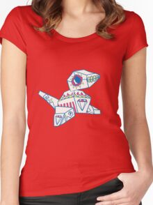 Porygon Popmuerto | Pokemon & Day of The Dead Mashup Women's Fitted Scoop T-Shirt