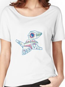 Porygon Popmuerto | Pokemon & Day of The Dead Mashup Women's Relaxed Fit T-Shirt