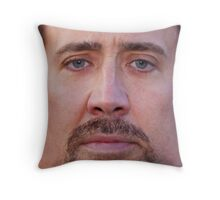 Nicolas Cage Face Throw Pillow Throw Pillow