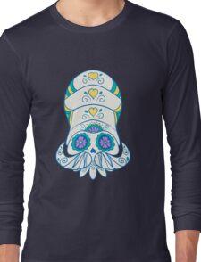 Omanyte Popmuerto | Pokemon & Day of The Dead Mashup Long Sleeve T-Shirt